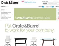 Crate & Barrel Business Sales