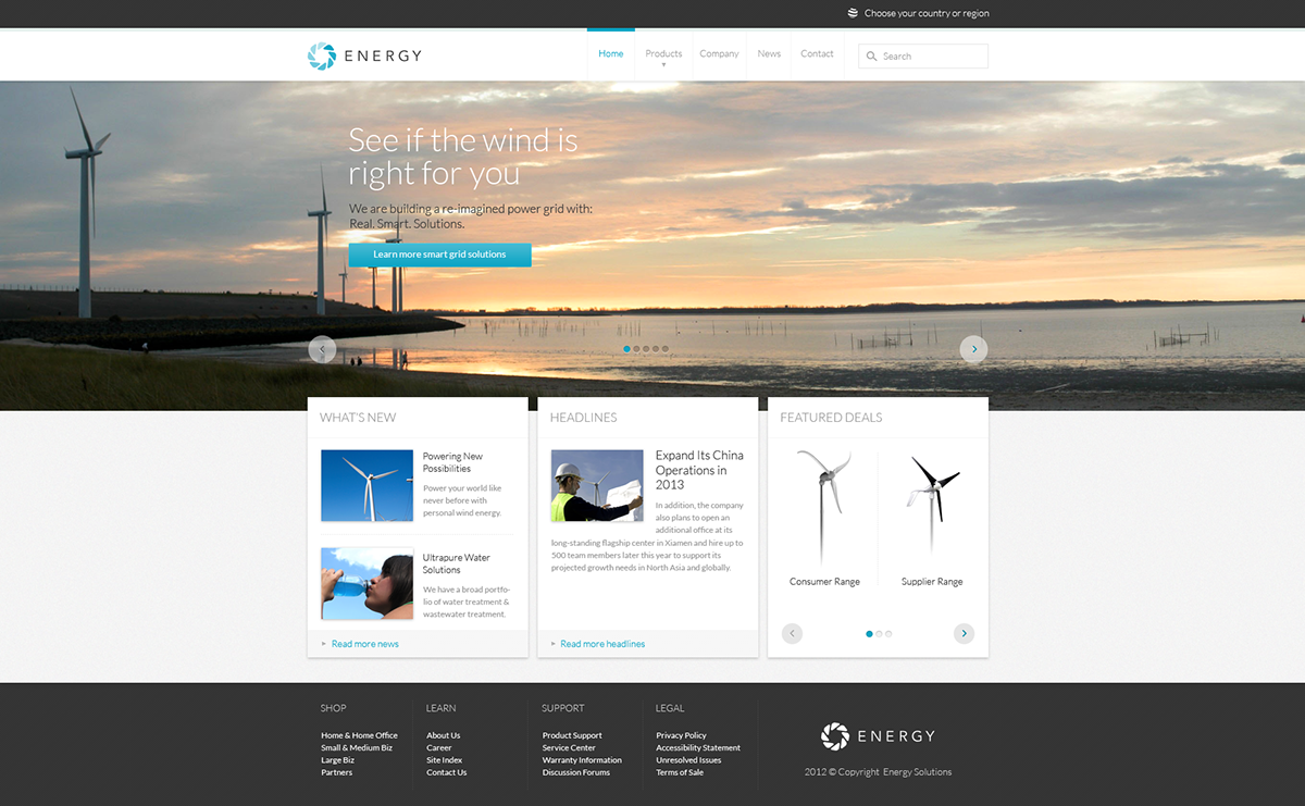 Energy - Modern PSD Template