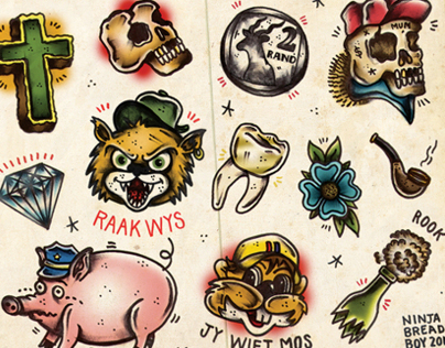 Chappies - Tattoo Flash with a local twist