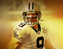 Drew Brees Branding, Website and Social Media