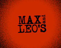 Branding and identity for MAX and LEO's : Artisan Pizza
