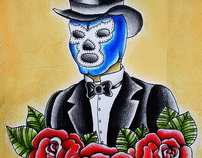 Blue Demon by:Alejandra L Manriquez.
