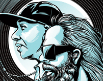 Russell Simmons & Rick Rubin Illustration for Grantland