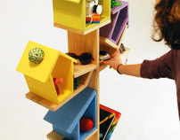 """Poleirinho""Bird Perch Storage"