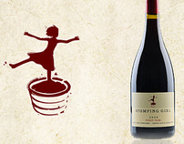 Stomping Girl Wines Logo