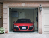 Audi R8 Garage Door Cover