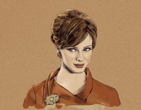 Joan Holloway postcard
