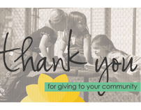 "Community Foundation of SE Kansas ""Thank You"" Campaign"