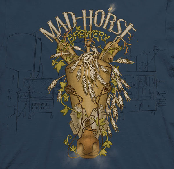 Mad Horse Brewery Illustration