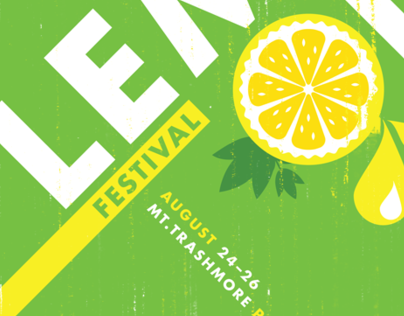 2012 Lemon Fest Poster Design