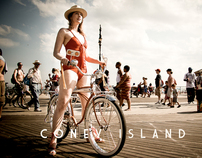 Coney Island Glamour NYC with model Lauren Fritsch