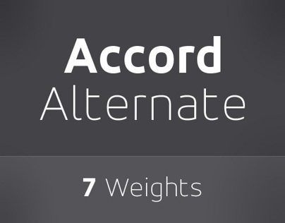 Accord Alternate Font Family