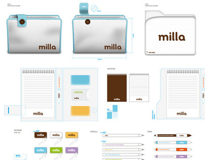 Milla Stationery and Guidelines Decoration