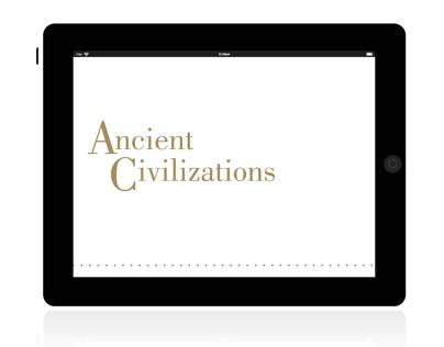 ANCIENT CIVILIZATIONS | IPAD APP CONCEPT