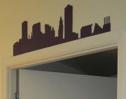 Baltimore Skyline Doorway Decor