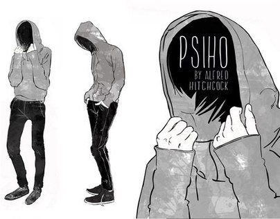 Art for Psiho by Alfred Hitchcock