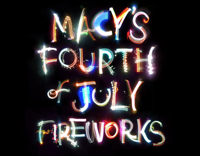Macys 4th of July typography