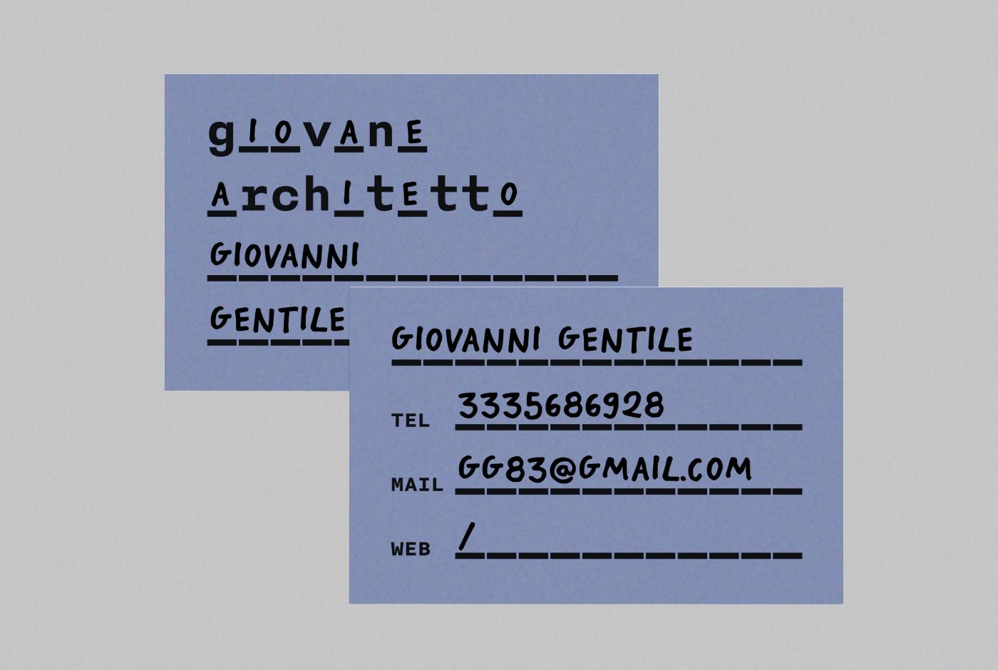 Giovani Architetti (Young Architects) Identity