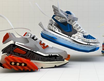 Nike DJ Red Alert Transformer Style