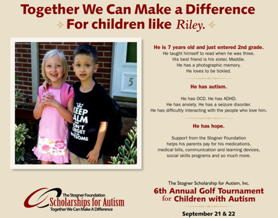 Promotional Materials: Stogner Scholarship for Autism