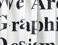 Curating a show called-We are graphic designers