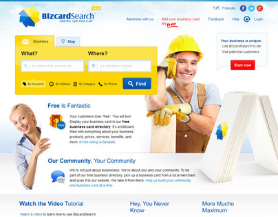 BizcardSearch.ca - Business card directory