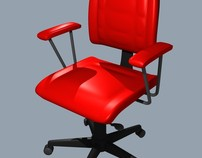 Chair in 3D modeling