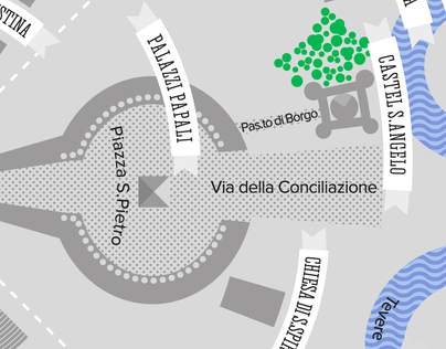 The view from San Pietro - Map