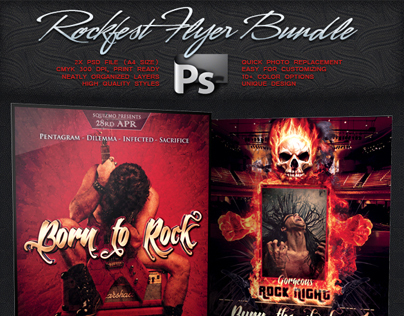Rockfest Flyer Bundle Vol.3