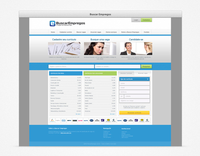 Buscar Empregos website template