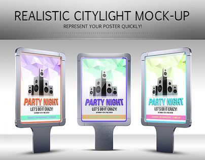 Realistic Citylight Poster Mock-Up