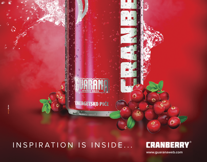 GUARANA CRANBERRY brand developement, launch