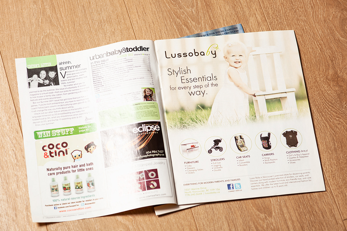 magazine ads for lusso baby