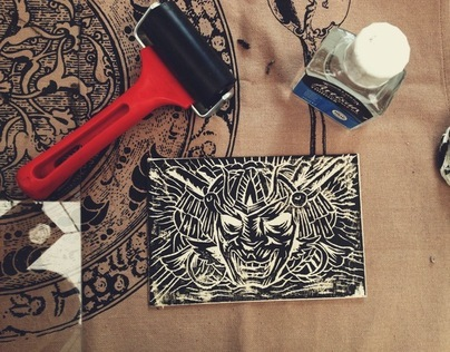 Printmaking workshop: Linocut masks