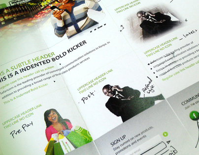 Safaricom Web Redesign