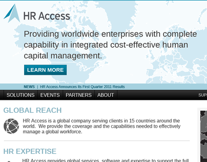 HRAccess Corporate Website Design Concept 01