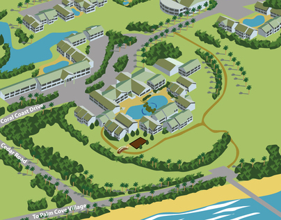 Resort Map Vector Illustration