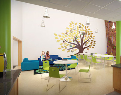 3D renderings - Elementary school interiors
