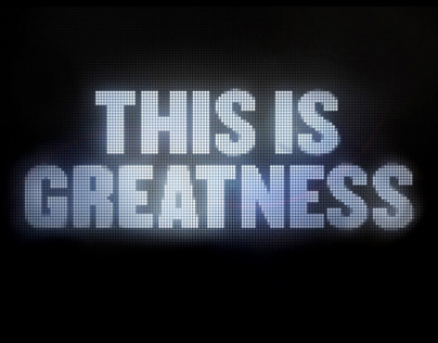 AFL / This is Greatness / Font Design