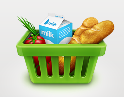 Grocery Shopping Icons Set