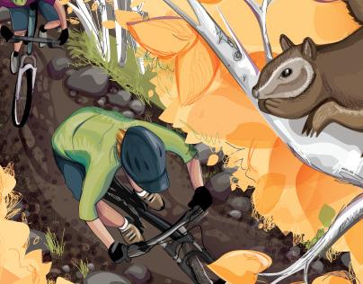 Bike Magazine Cover Illustration