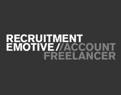 RECRUITMENT EMOTIVE // ACCOUNT FREELANCER