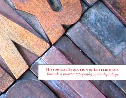 Historical Evolution of Letterforms.