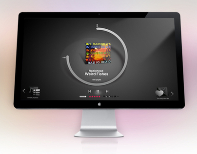 Gaana Fullscreen Player UI Design