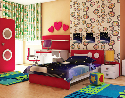 Kids room - children bedroom - Visualization