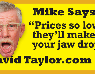David Taylor GMC Talking Head Campaign