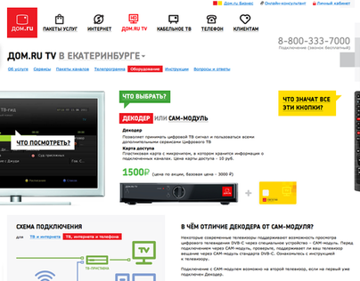 Web portal of the universal service provider Dom.ru