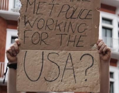 Julian Assange photos for POP magazine