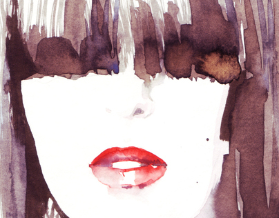 Watercolor fashion illustrations