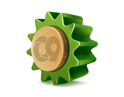 gear wheel icon for Creative 9 Design